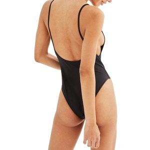 Topshop Black Pamela one piece swimsuit
